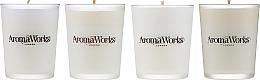 Fragrances, Perfumes, Cosmetics Set - AromaWorks Signature Range Candle Boxed Set (candles/4x75g)