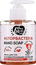 Fragrances, Perfumes, Cosmetics Antibacterial Grapefruit & Tea Tree Hand Soap - MonoLove Bio Hand Soap With Chlorhexidine