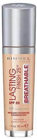 Foundation - Rimmel Lasting Finish 25HR Breathable Foundation SPF 20