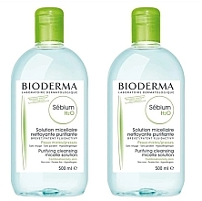 Fragrances, Perfumes, Cosmetics Set - Bioderma Sebium H2O Micellaire Solution (2xsolution/500ml)