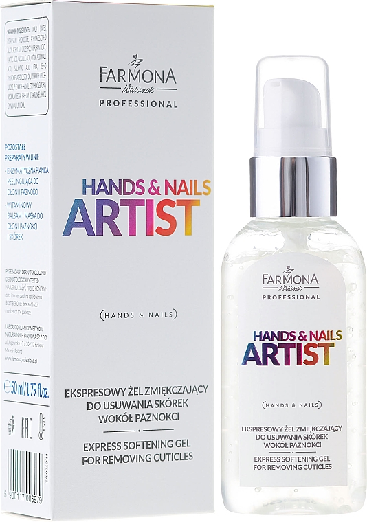 Cuticle Gel Remover - Farmona Hands and Nails Artist Express Softening Gel For Removing Cuticles — photo N1