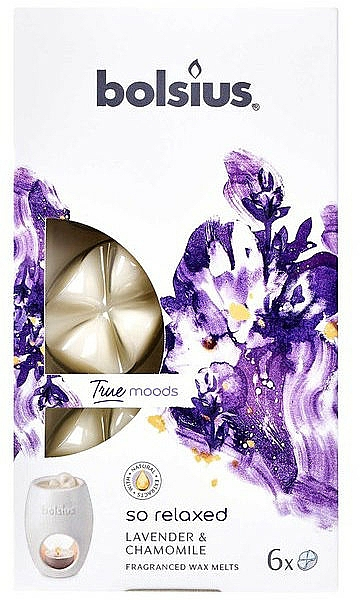 """Scented Wax """"Lavender & Chamomile"""" - Bolsius True Moods So Relaxed Lavender & Chamomile"""