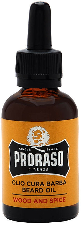 Beard Oil - Proraso Wood and Spice Smooth and Protect Oil
