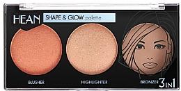 Fragrances, Perfumes, Cosmetics Contouring Palette - Hean Shape & Glow Palette