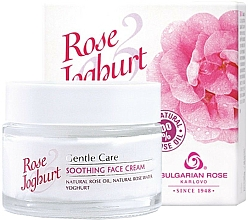 Fragrances, Perfumes, Cosmetics Soothing Face Cream - Bulgarian Rose Rose & Joghurt Soothing Face Cream