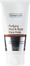 Fragrances, Perfumes, Cosmetics Clay and Algae Cleansing Mask - Bielenda Professional Purifying Mud and Algae Face Mask