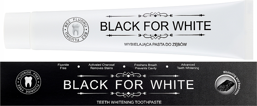 Activated Charcoal Toothpaste - Biomika Black For White Teeth Paste