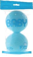 Fragrances, Perfumes, Cosmetics Bath Sponge Set, 2 pcs, light blue - Suavipiel Baby Soft Sponge