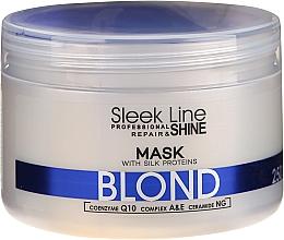 Fragrances, Perfumes, Cosmetics Silk Repair Mask for Blonde - Stapiz Sleek Line Repair & Shine Blond Mask