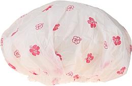 Fragrances, Perfumes, Cosmetics Shower Cap, 9298, white & rose flowers - Donegal Shower Cap