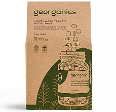 "Fragrances, Perfumes, Cosmetics Mouthwash Tablets ""Tea Tree"" - Georganics Mouthwash Tablets Tea Tree (refill)"