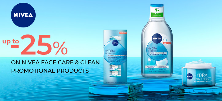 25% off on Nivea Face Care & Clean promotional products. Prices on the site already include a discount