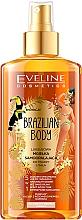 Fragrances, Perfumes, Cosmetics Moisturizing Face & Body Oil with Tan Effect - Eveline Cosmetics Brazilian Mist Face & Body