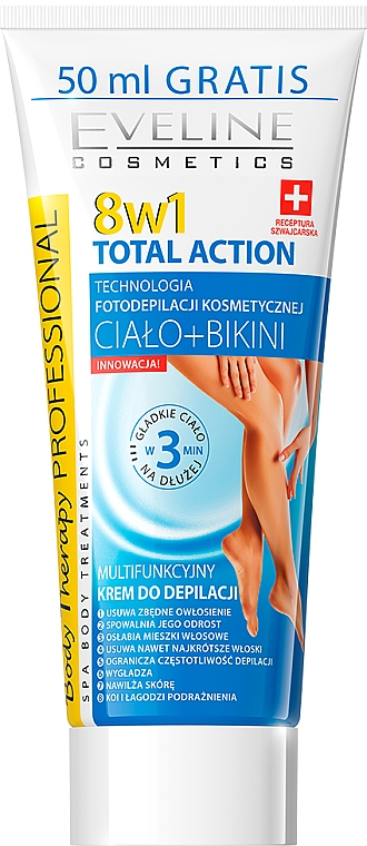 Depilatory Cream 8in1 - Eveline Cosmetics 8w1 Total Action