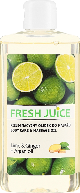 "Massage & Care Oil ""Lime & Ginger + Argan Oil"" - Fresh Juice Energy Lime&Ginger+Argan Oil — photo N1"