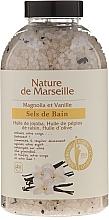Fragrances, Perfumes, Cosmetics Bath Salt with Magnolia and Vanilla Flavor - Nature de Marseille