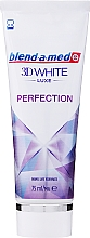 """Fragrances, Perfumes, Cosmetics Toothpaste """"Perfection"""" - Blend-a-med 3D White Luxe Perfection"""