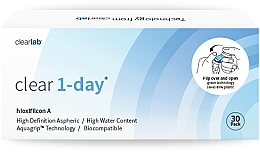 Fragrances, Perfumes, Cosmetics One-Day Contact Lenses, 30 pcs - Clearlab Clear 1-Day