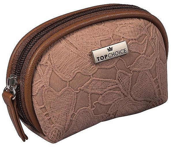 """Makeup Bag """"Lace"""", 98581, dark brown - Top Choice"""