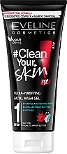 Fragrances, Perfumes, Cosmetics Ultra-Cleansing Face Wash Gel - Eveline Cosmetics #Clean Your Skin Ultra-Purifying Facial Wash Gel