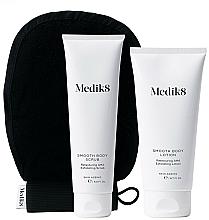 Fragrances, Perfumes, Cosmetics Set - Medik8 Smooth Body Exfoliating Kit (scr/150ml+lot/200ml+glove)