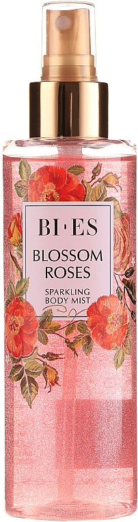 Bi-es Blossom Roses Sparkling Body Mist - Scented Sparkling Body Mist