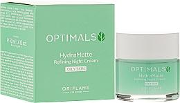 Fragrances, Perfumes, Cosmetics Moisturizing & Mattifying Face Night Cream - Oriflame Optimals Hydra Matte Refininf Night Cream