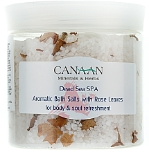 Fragrances, Perfumes, Cosmetics Aromatic Bath Salt with Rose Leaves - Canaan Minerals & Herbs Aromatic Bath Salts With Rose Leaves