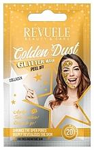 Fragrances, Perfumes, Cosmetics Collagen Peel-Off Mask - Revuele Glitter Mask Golden Dust