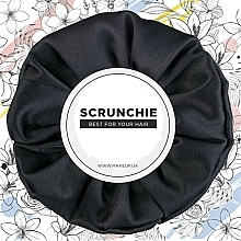 "Fragrances, Perfumes, Cosmetics Hair Scrunchie Satin, black ""Satin Classic"" - MakeUp Hair Accessories"