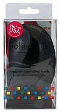 Fragrances, Perfumes, Cosmetics Compact Hair Brush, black - Rolling Hills Compact Detangling Brush Black