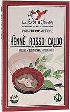"Fragrances, Perfumes, Cosmetics Hair Powder ""Rosso Caldo"" - Le Erbe di Janas Red Henna Hot Shades"