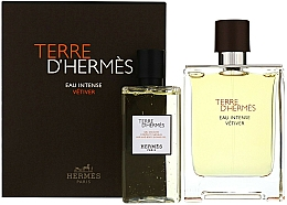 Fragrances, Perfumes, Cosmetics Terre D'Hermes Eau Intense Vetiver - Set (edp/100ml + sh/gel/100ml)