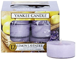 Fragrances, Perfumes, Cosmetics Tea Light Candles - Yankee Candle Scented Tea Light Candles Lemon Lavender