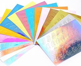 Fragrances, Perfumes, Cosmetics Nail Sticker Set, 16 pcs - Deni Carte