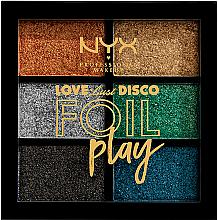 Fragrances, Perfumes, Cosmetics Makeup Pigments Palette - NYX Professional Makeup Love Lust Disco Foil Play Pigment Palette