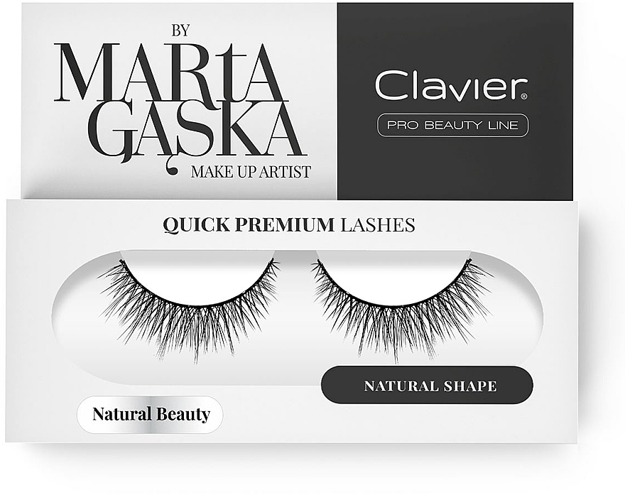 Flase Lashes - Clavier Quick Premium Lashes Natural Beauty 827
