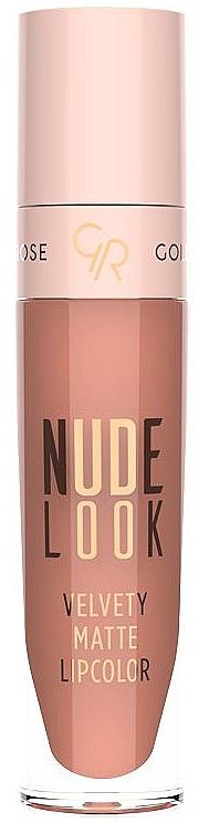 Matte Lipstick - Golden Rose Nude Look Velvety Matte Lipcolor