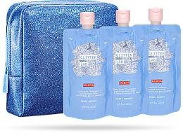 Set - Pupa Glitter Lab Shiny Remedy (bag+milk/200 ml+cream/200ml+scrub/200ml) — photo N1