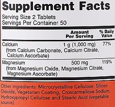 """Dietary Supplement """"Calcium & Magnesium"""" - Now Foods Calcium & Magnesium — photo N3"""