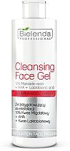 Fragrances, Perfumes, Cosmetics Exfoliating Gel 10% with Almind Acid + AHA + Lactobionic Acid - Bielenda Professional Exfoliation Face Program Cleansing Face Gel