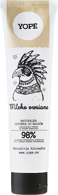 Natural Oat Milk Conditioner for Normal Hair - Yope