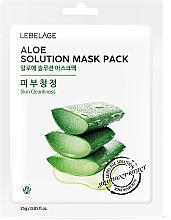 """Fragrances, Perfumes, Cosmetics Facial Sheet Mask """"Aloe"""" - Lebelage Aloe Solution Mask"""
