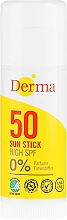 Fragrances, Perfumes, Cosmetics Sunscreen Stick - Derma Sun Sun Stick High SPF50