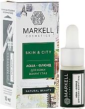 "Fragrances, Perfumes, Cosmetics Aqua-Fluid for Eyes ""Snow Mushroom"" - Markell Cosmetics Skin&City Face Mask"