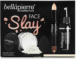 Fragrances, Perfumes, Cosmetics Set - Bellapierre Face Slay Kit Fair/Medium (stick/8.6g + powder/6.5g + spray/70ml + sponge/1pcs)