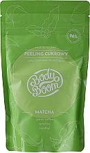 Fragrances, Perfumes, Cosmetics Anti-Cellulit Matcha Body Sugar Scrub - BodyBoom Body Scrub