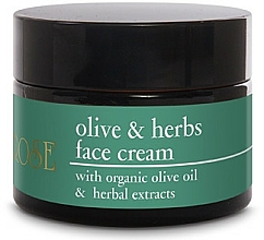 Fragrances, Perfumes, Cosmetics Olive Oil Face Cream - Yellow Rose Olive & Herbs Face Cream