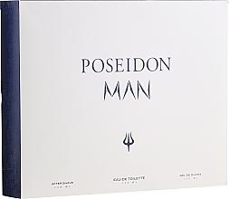 Fragrances, Perfumes, Cosmetics Instituto Espanol Poseidon - Set (edt/150ml+ash/balm/150ml+sh/gel/150ml)