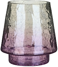 Fragrances, Perfumes, Cosmetics Votive Candle Holder - Yankee Candle Savoy Purple Crackle Jar Holder